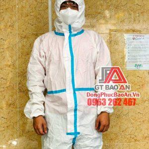 [Có Sẵn] Quần áo bảo hộ y tế phòng dịch TPHCM cao cấp ép SEAM – Bộ 4 món, cấp độ 3