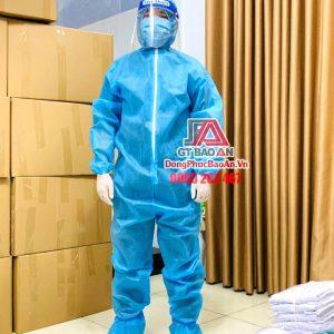 [Có Sẵn] Bộ quần áo bảo hộ y tế phòng dịch TPHCM - Bộ quần áo phòng dịch dùng 1 lần SET 5 món, cấp độ 1-2