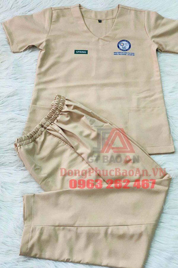Nhận in thêu tên, logo lên bộ Scrubs bác sĩ Y khoa theo yêu cầu tại TPHCM