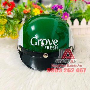 Xưởng đặt làm nón bảo hiểm in logo theo yêu cầu TPHCM – Mũ bảo hiểm quảng cáo giá rẻ của Công ty Grove Fresh