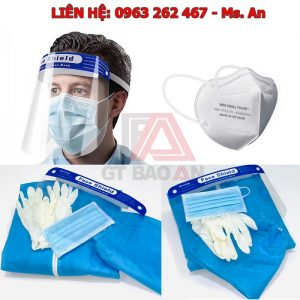 Khẩu trang y tế 4 lớp kháng khuẩn màu xanh dương hộp 50 cái