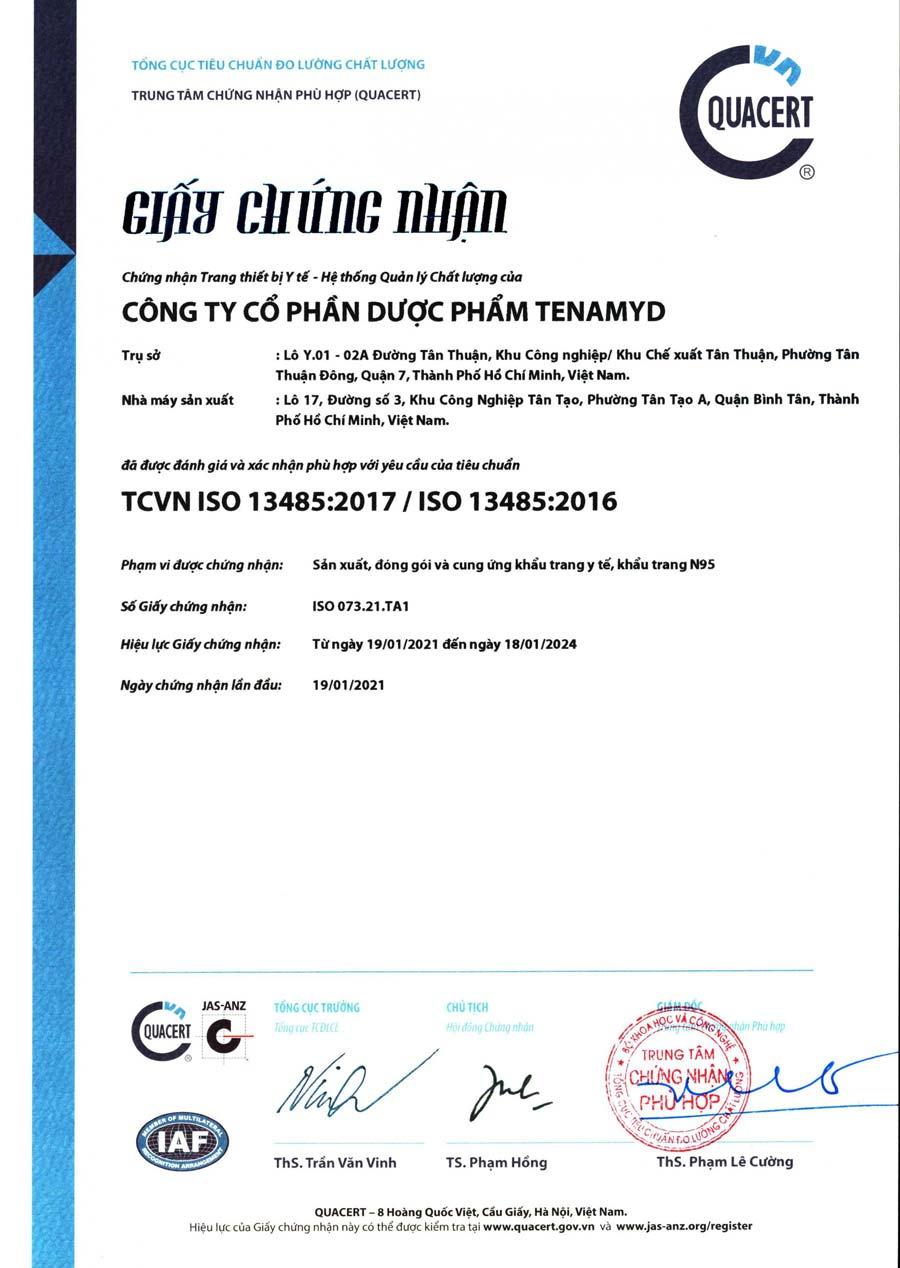 Khẩu trang N95 Tenamyd FM 5 lớp chính hãng đạt chuẩn FFP2 – Giá khẩu trang TENAMYD FM N95 tốt nhất TPHCM