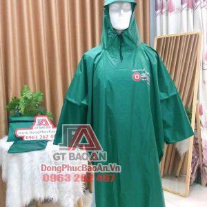 Đặt áo mưa in logo công ty theo yêu cầu TPHCM – Mẫu áo mưa cánh dơi vải dù vân tổ ong công ty Lợi Dân