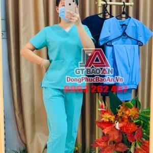 5+ bộ Scrubs bác sĩ, đồng phục bệnh viện chuyên dụng - Chất vải Cotton Ford